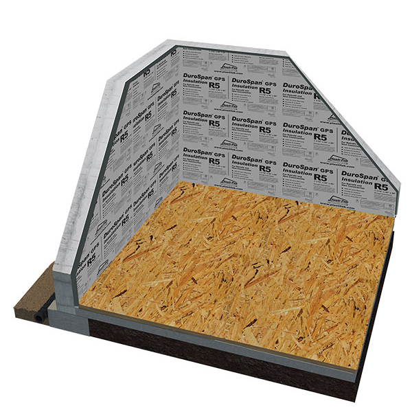 Interior Basement Wall Insulation with Durospan GPS R5 Insulation