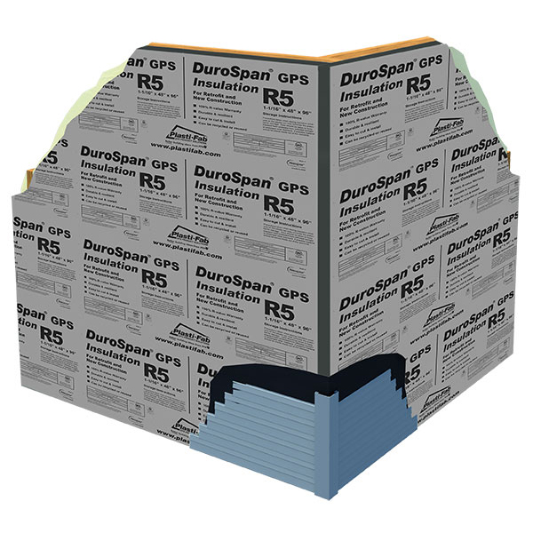 Exterior Insulating Sheathing with Durospan GPS R5 Insulation