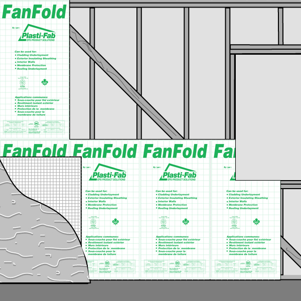 Exterior Sheathing with FanFold