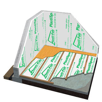 Insulating a Basement Floor with PlastiSpan 25 Insulation