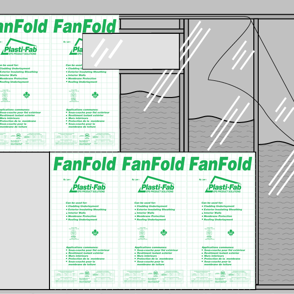 Interior Walls with FanFold